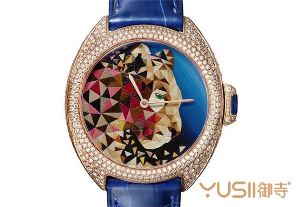 Clé de Cartier秸秆镶嵌腕表