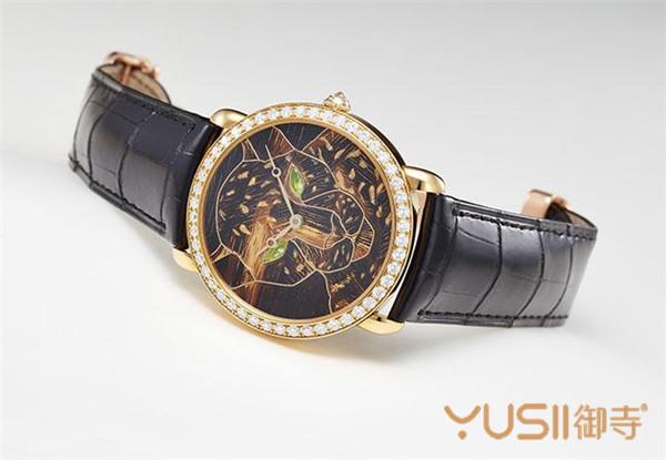 Ronde Louis Cartier金箔细木镶嵌腕表
