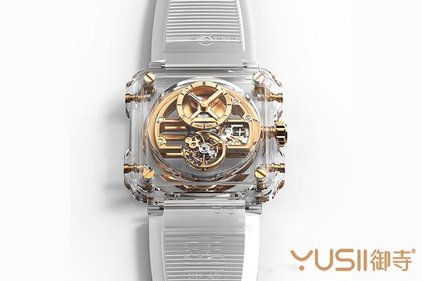 柏莱士电商限定款BR-X1 SKELETON TOURBILLON SAPPHIRE手表