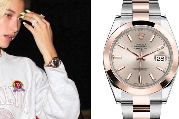 比伯女友鲍德温手上600万的爱彼手表是哪款?