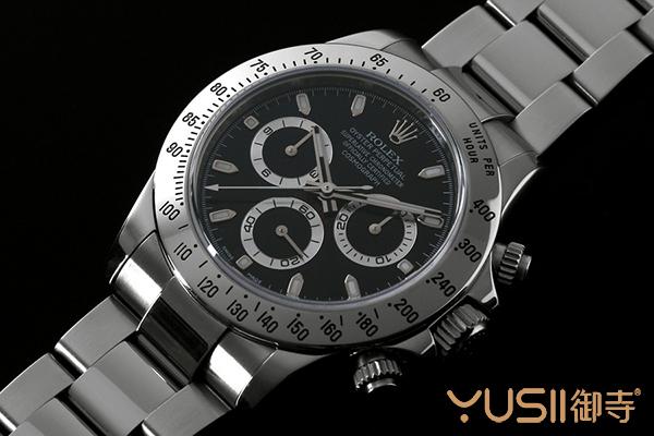 御寺二手劳力士宇宙计型迪通拿钢款116520黑盘手表好价出售