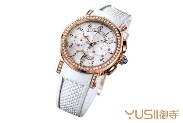 宝玑玫瑰金计时腕表,宝玑腕表在手表回收店什么价格?