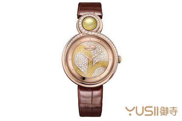 精致优雅的雅克德罗三叶草手表,哪里回收雅克德罗手表?御寺