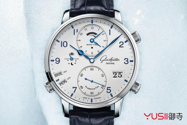 赏析格拉苏蒂原创议员世界时手表,手表回收可找御寺
