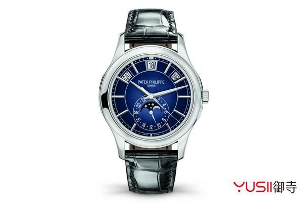 赏析百达翡丽复杂功能时计月相年历手表,百达翡丽手表回收一般几折?御寺