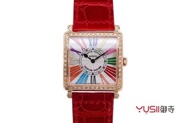 法穆兰手表什么档次?法穆兰手表回收价格多少?,法兰克穆勒18K玫瑰金6002 M QZ COL DRM R D 1R镶钻石英手表
