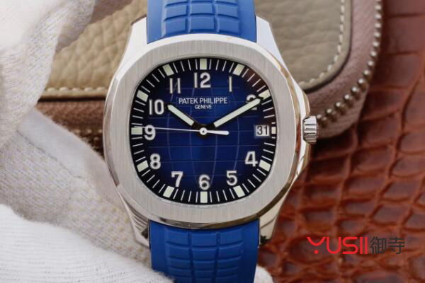 百达翡丽蓝色手雷手表